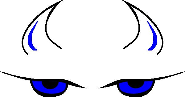 Blue Devil Face clip art.