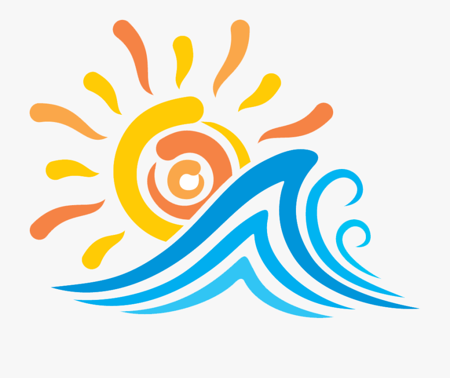 Sun And Waves Clip Art Logo , Transparent Cartoon, Free.