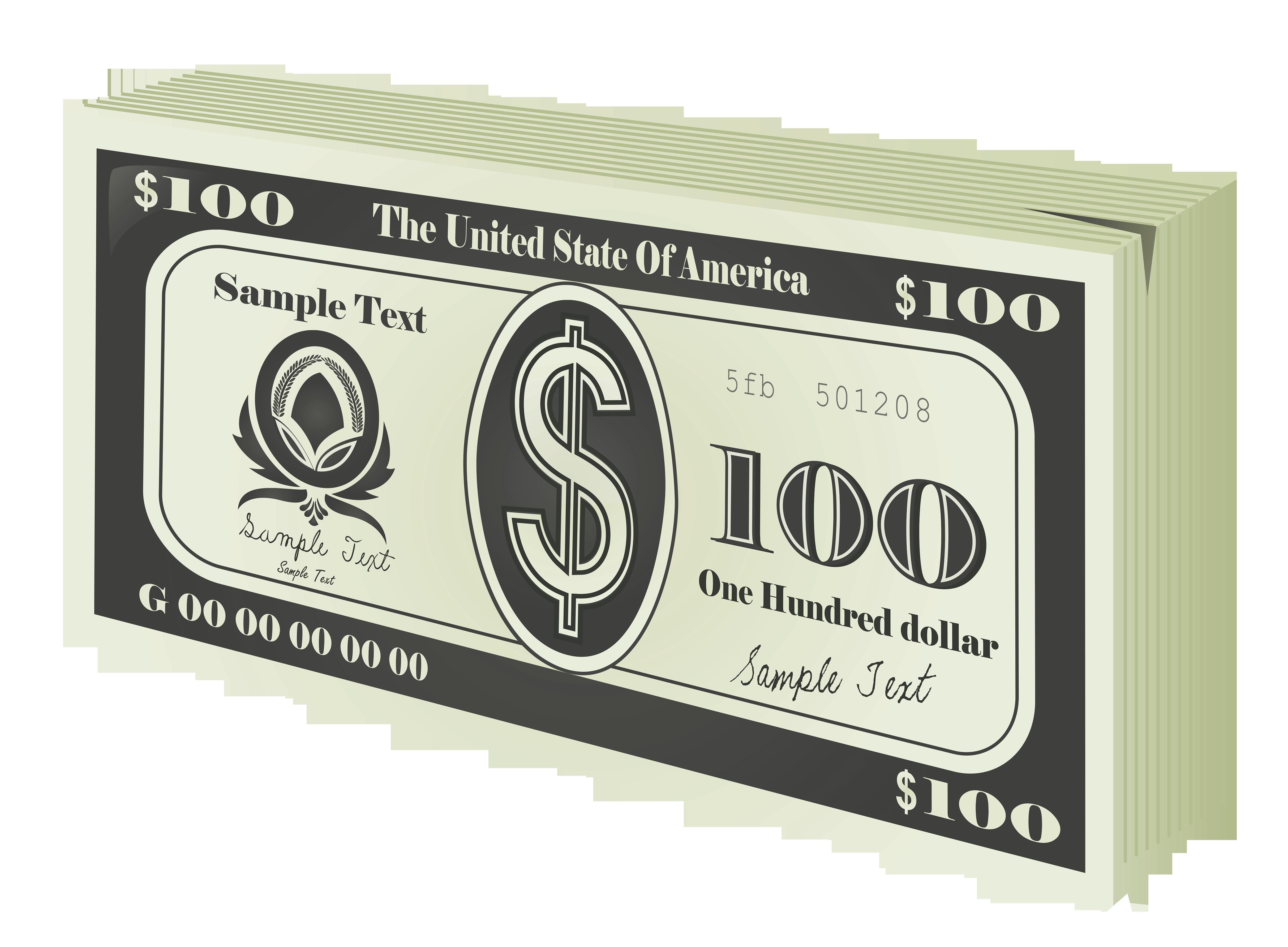 100 Bucks Wad PNG Clipart.