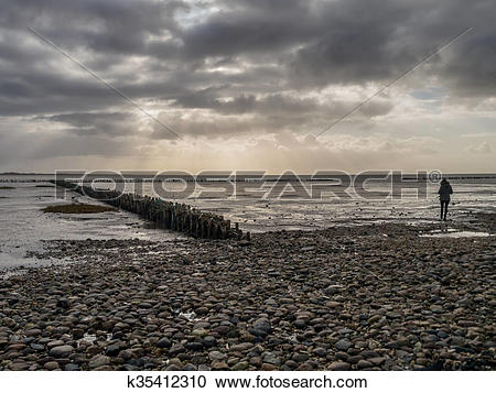 Stock Photography of Wadden sea from the island Mando, Denmark.