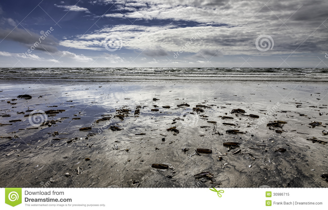 Wadden Sea On Fano, Denmark Royalty Free Stock Photo.