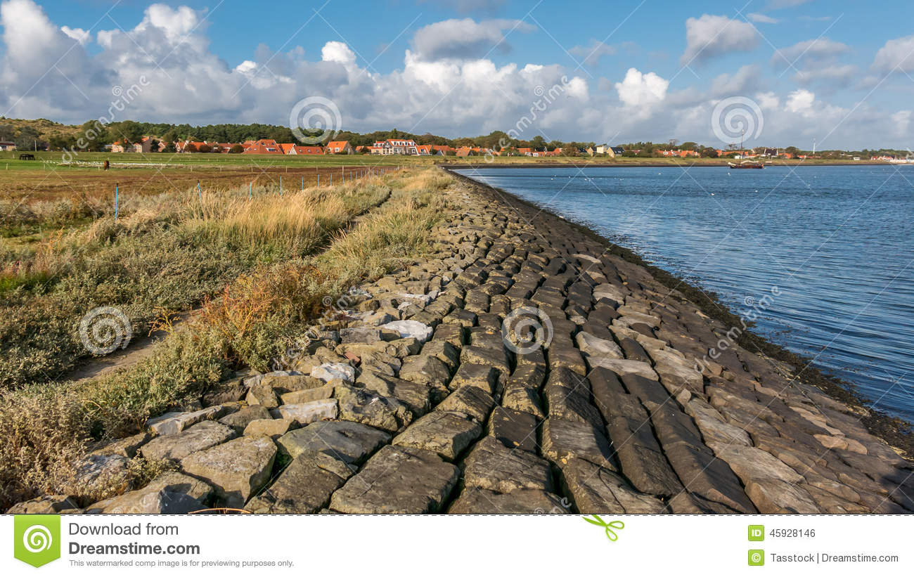 Vlieland Coast, Wadden Sea, Holland Stock Photo.