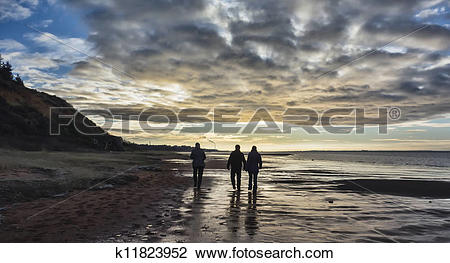 Stock Photo of Wadden sea near Esbjerg, Denmark k11823952.