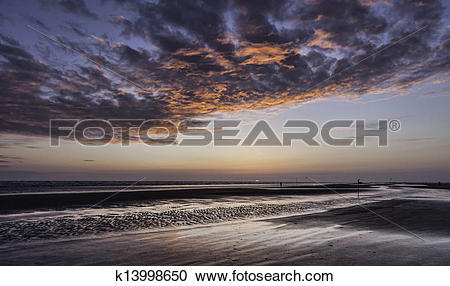 Stock Photography of Wadden sea on Fano, Denmark k13998650.