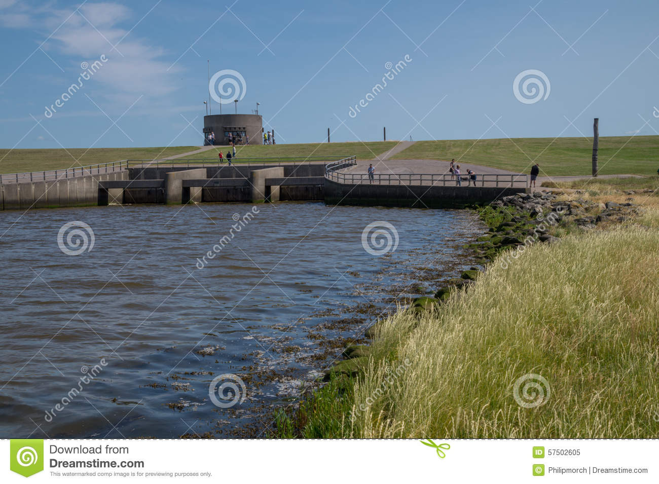 The Lock Of Vidaa, Wadden Sea, Denmark Stock Photo.