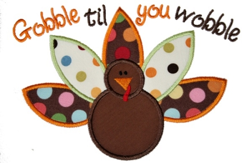 Gobble Gobble Turkey Waddle Clipart.