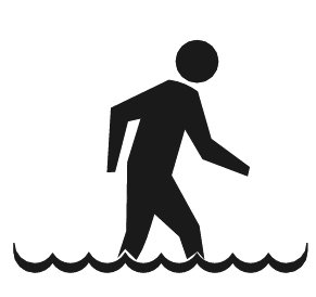 Free wading Clipart.