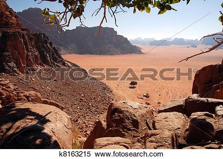 Stock Image of Wadi Rum Landscape Jordan k8163215.