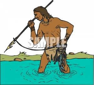 Free indian spear clipart.
