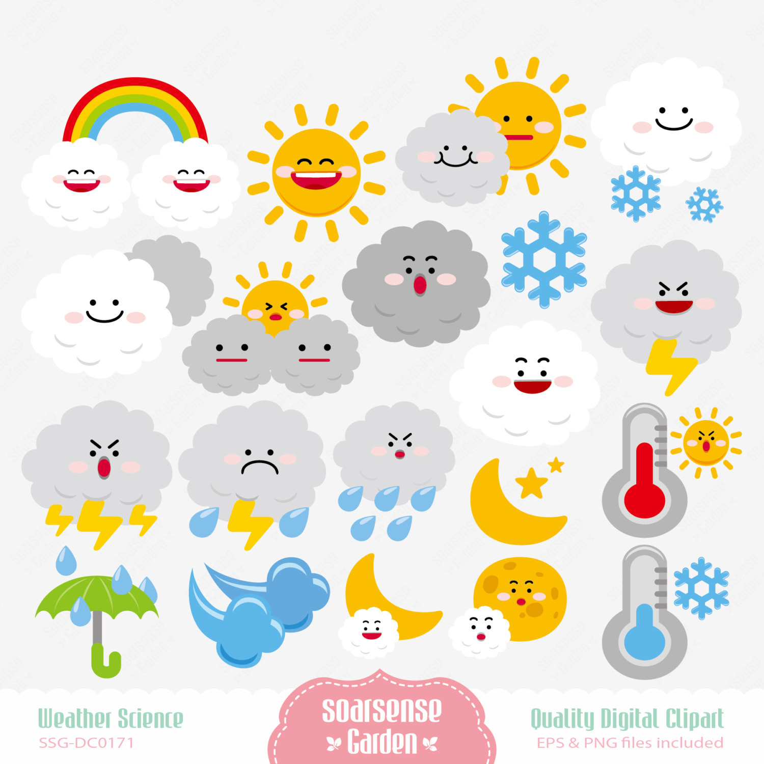March Weather Clipart.