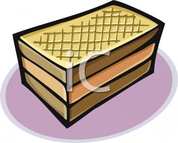 Vanilla wafer clipart box.