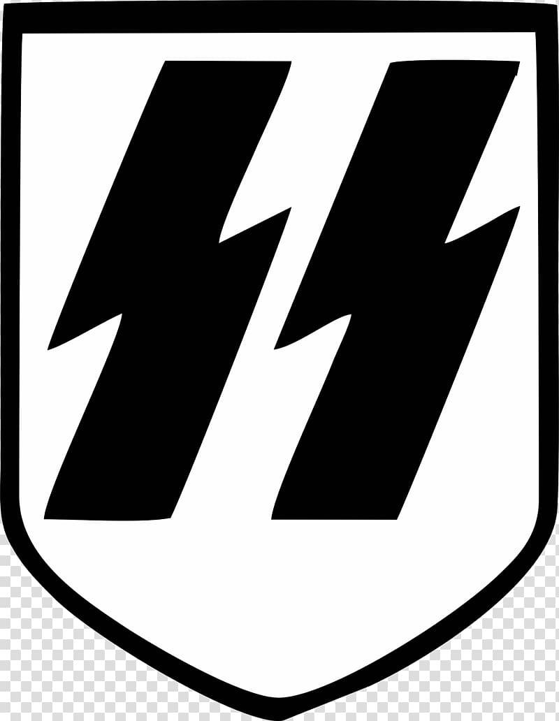White and black logo, Nazi Germany Waffen.