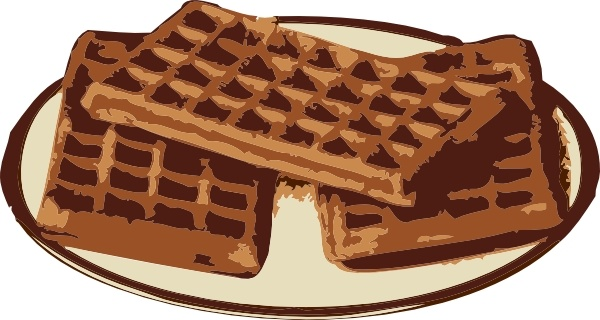 Waffles clip art Free vector in Open office drawing svg ( .svg.