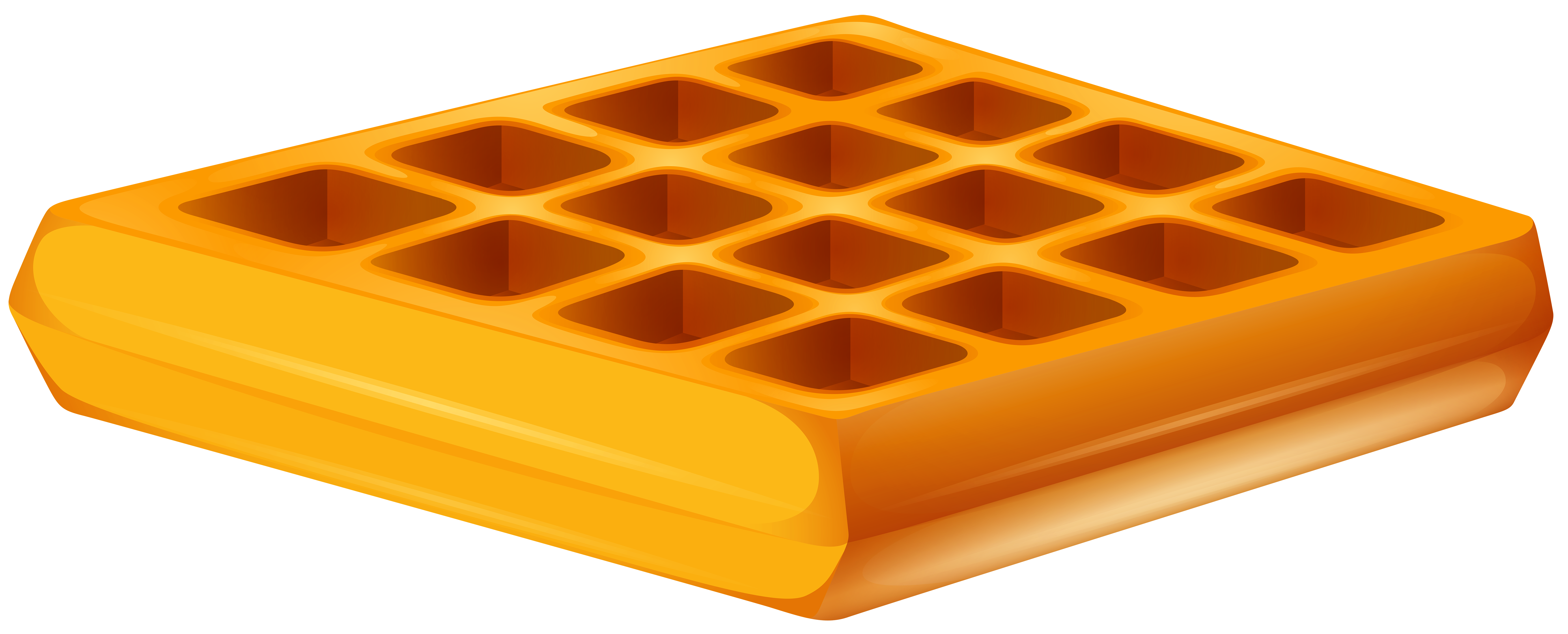 Waffle Transparent PNG Clip Art Image.