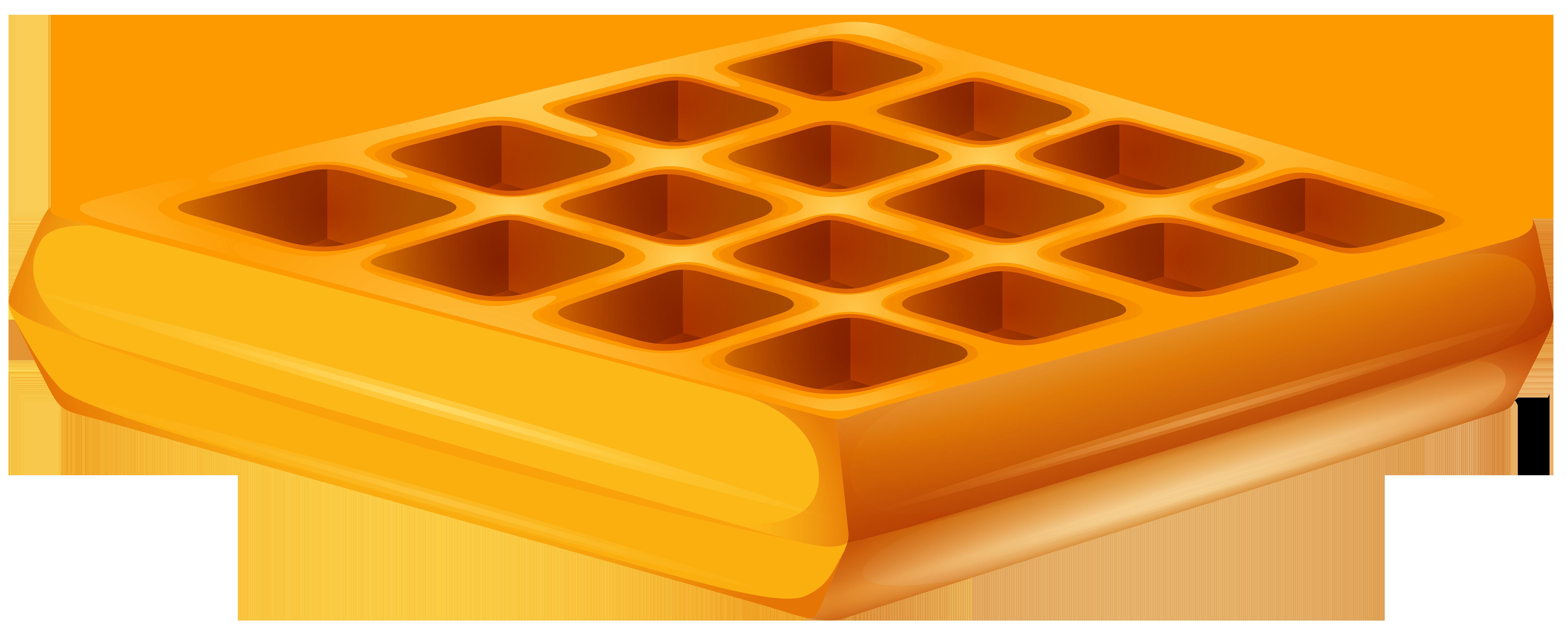 Waffle Transparent PNG Clip Art Image.