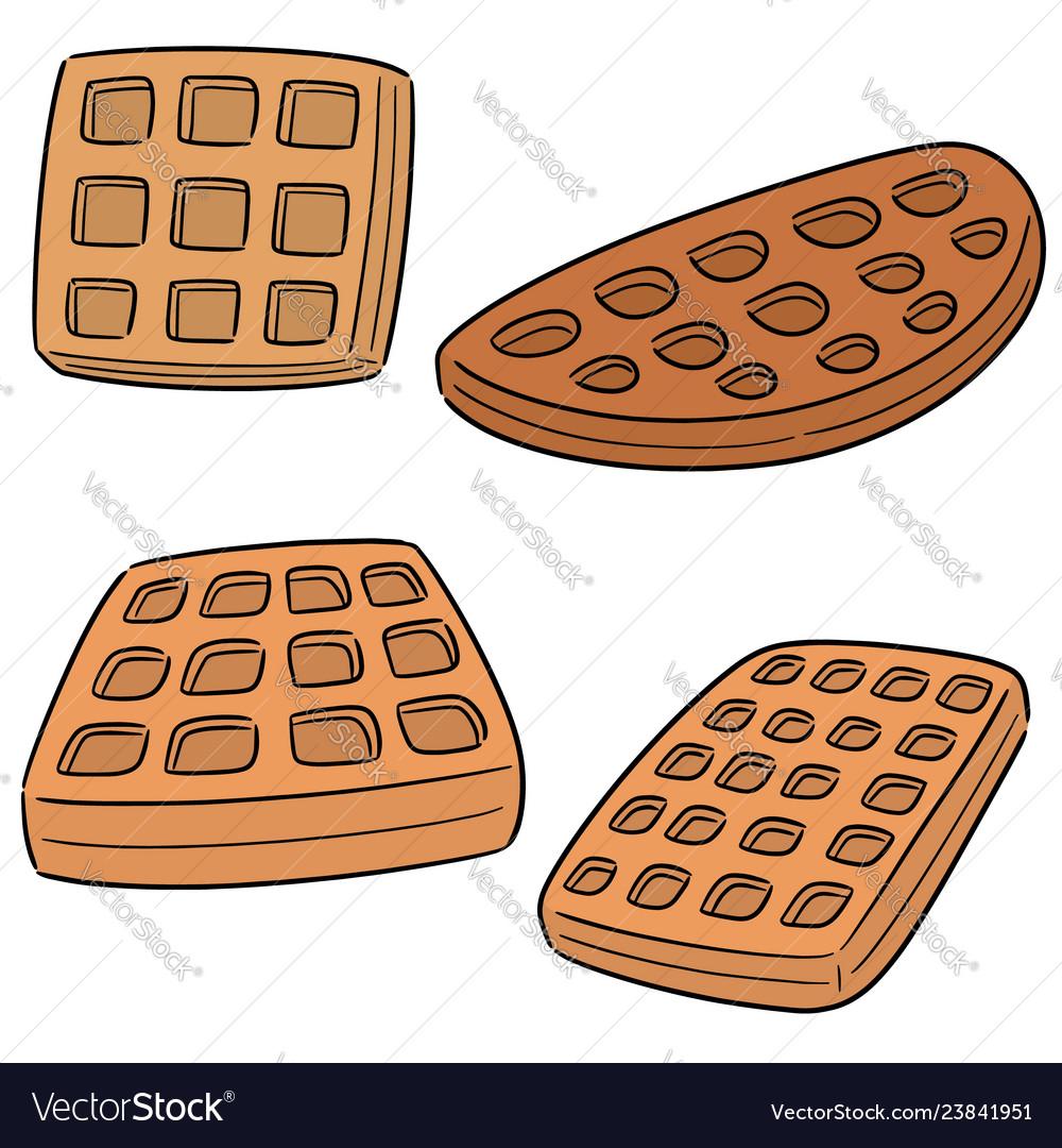 Set of waffle.