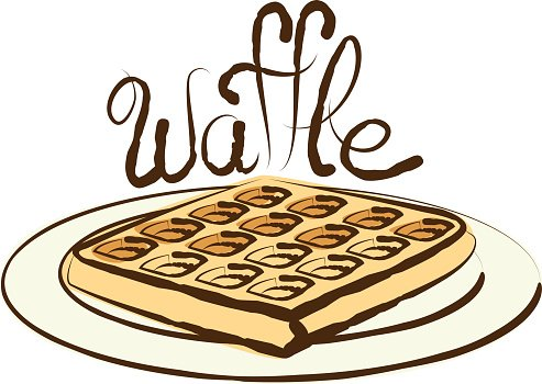 Vector Waffle Clipart Image.