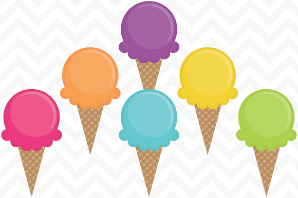 Clip Art Vector Ice Cream Cones by SonyaDeHart on Creative.