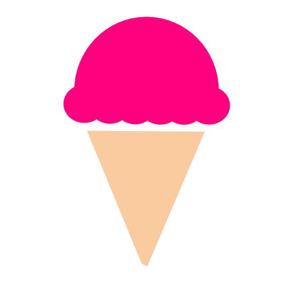 Ice Cream Cones Strawberry ice cream Chocolate ice cream.