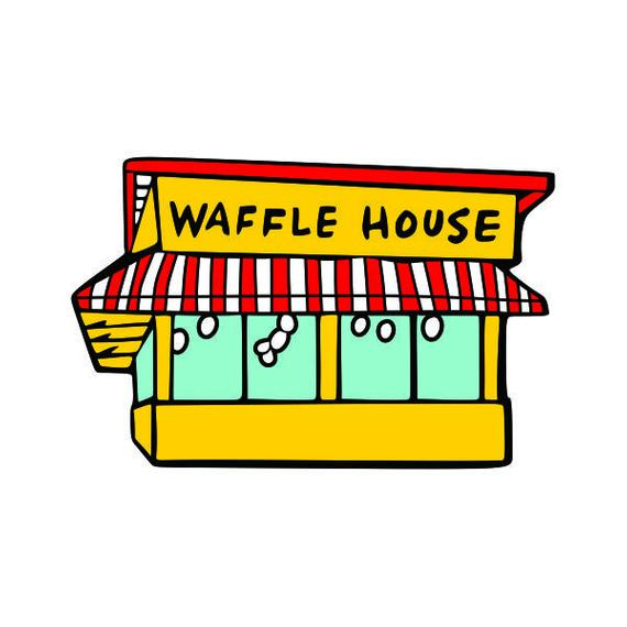Waffle House Cuttable SVG PNG DXF & eps Designs Cameo File Silhouette.