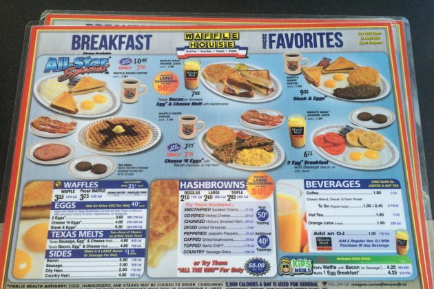 Did You Know That Waffle House Has A 'Full' Menu?.