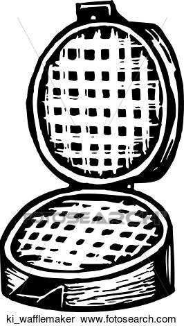 Waffle Maker Clipart.