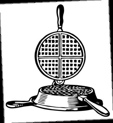 Free Vector Art: Waffle Iron.
