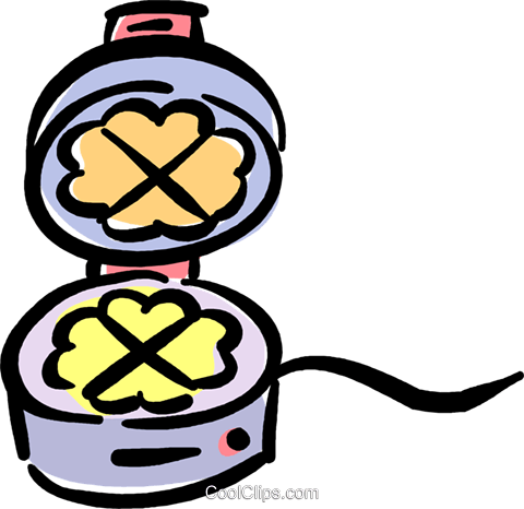 waffle maker Royalty Free Vector Clip Art illustration.