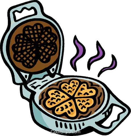 waffle iron Royalty Free Vector Clip Art illustration.