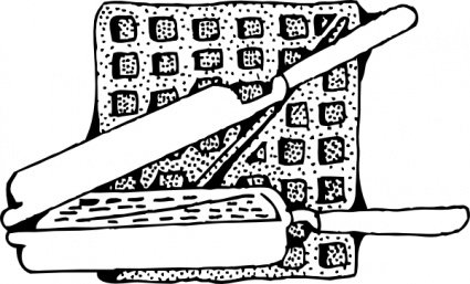 Waffle And Waffle Iron Clipart Picture Free Download.