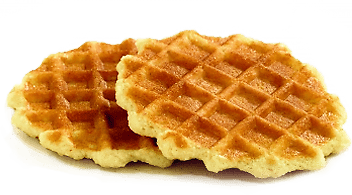 Butter Waffles transparent PNG.