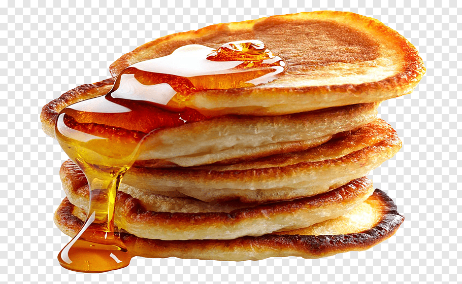 Pancake with honey syrup, Juice Pancake Breakfast Buffet.