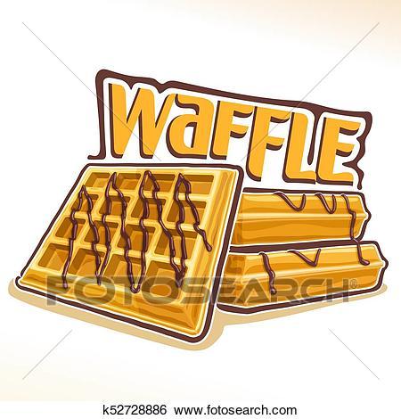 Vector logo for belgian Waffle Clip Art.