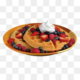 A Fruit Waffles, Fruit Clipart, Product #35737.