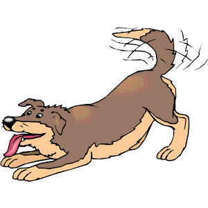 Dog tail wag clipart.
