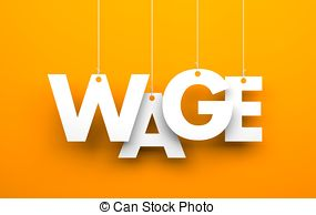 Clipart of Minimum Wage rubber stamp on white. Print, impress.