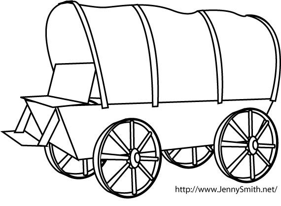 Clip Art Covered Wagon.