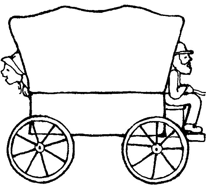 Pioneer wagon clipart.