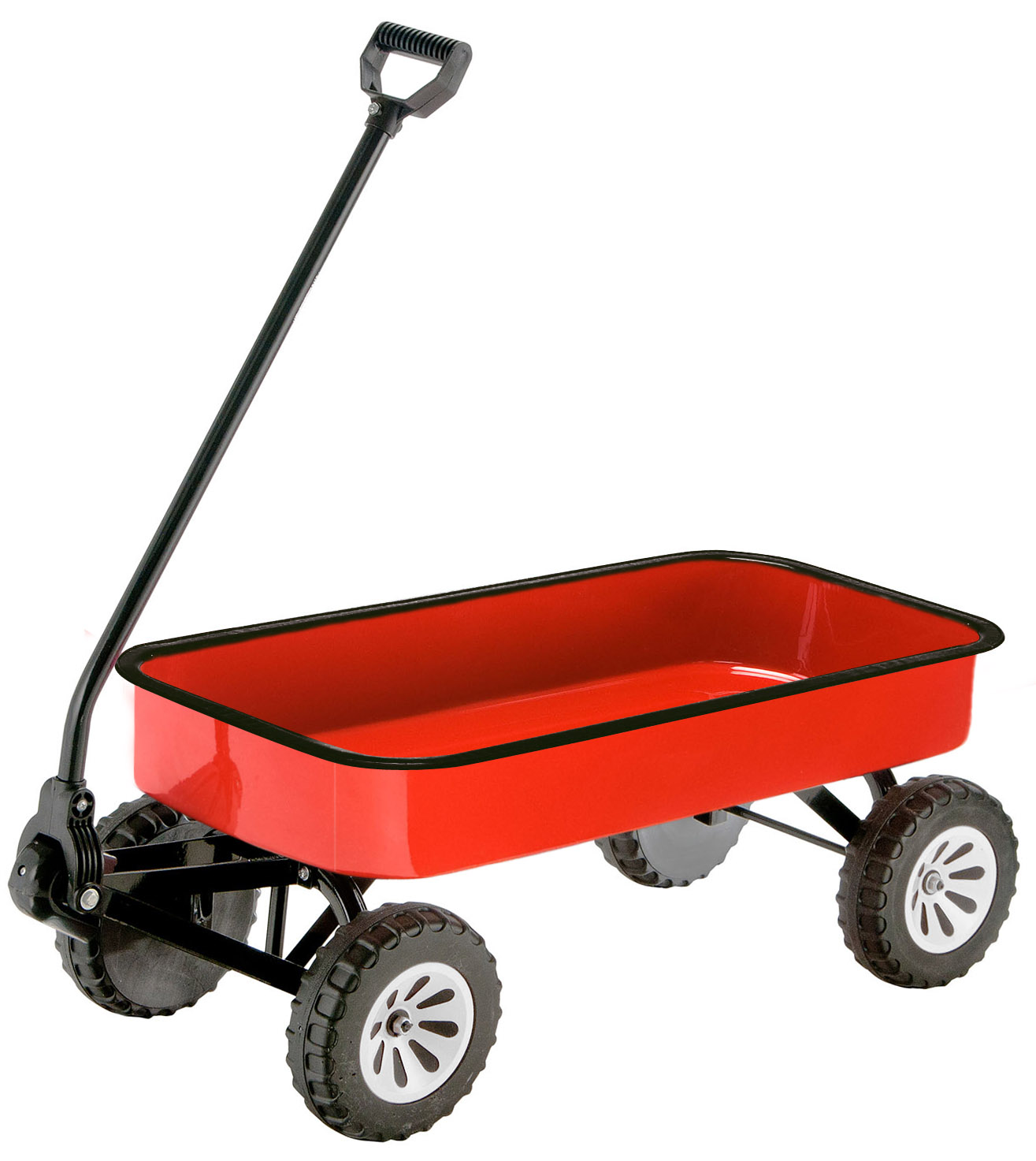 red wagon clipart black and white #1