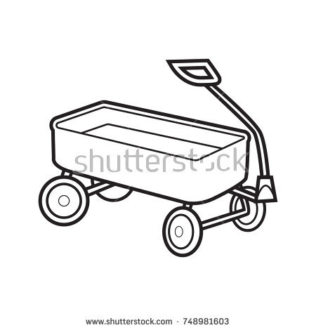 Red Wagon Clipart Black And White & Clip Art Images #11341.