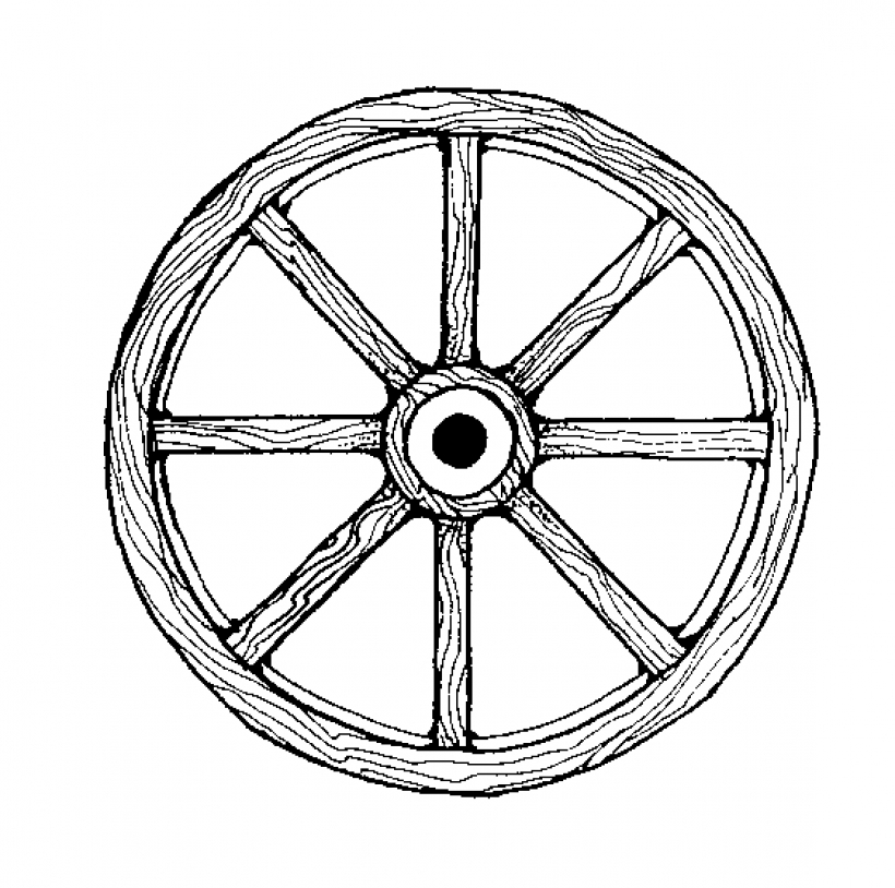 wheel clipart clipart kid Easy to Use covered wagon wheel clip art.