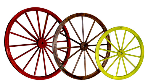 Decorative Antique Wagon Garden Wheel.
