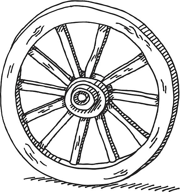 Best Wagon Wheel Illustrations, Royalty.