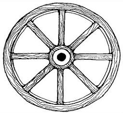 Free Wagon Wheel Clipart.