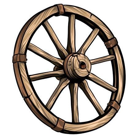 7,443 Wagon Wheel Cliparts, Stock Vector And Royalty Free Wagon.