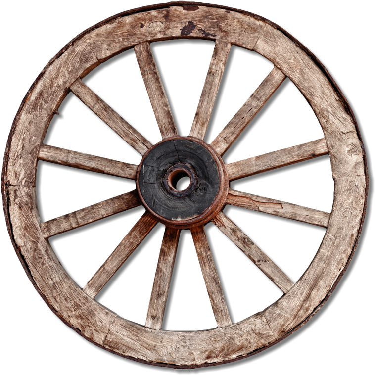 HD Old Wagon Wheel.