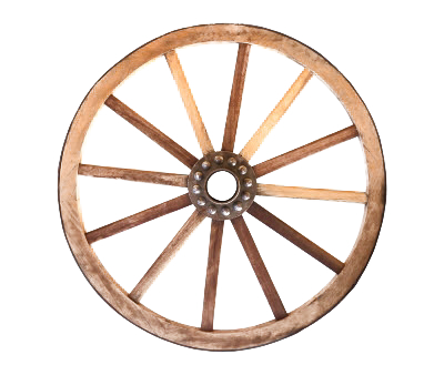 Wagon Wheel PNG Background Image.