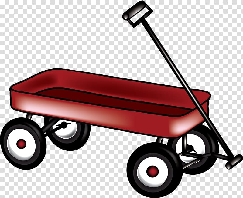 Covered wagon Radio Flyer , Wagon transparent background PNG.