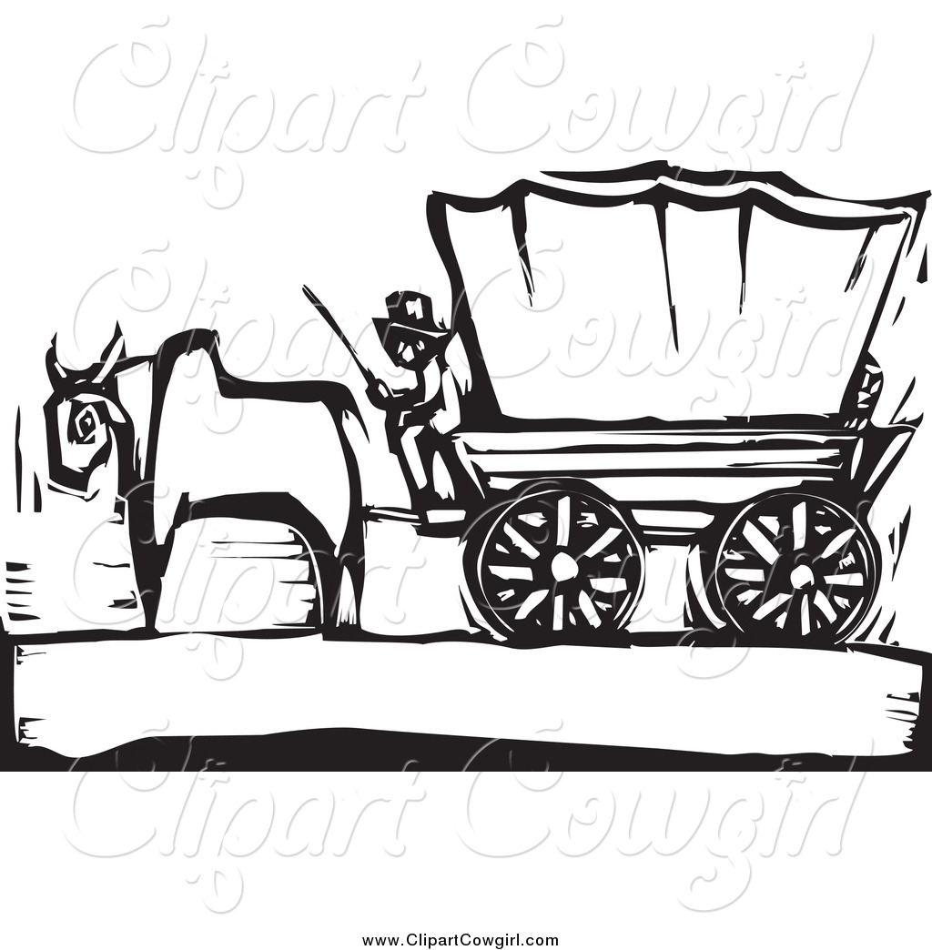 Oregon trail wagons clipart.