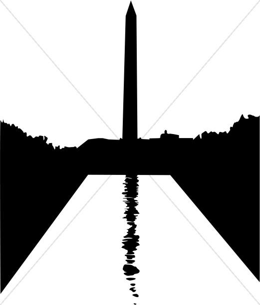 Washington Monument Silhouette.
